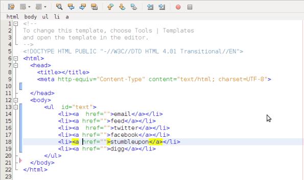source code sebelum di sisipkan css